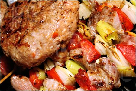 Barbeque-Meat-Vegetables-Stick-622272