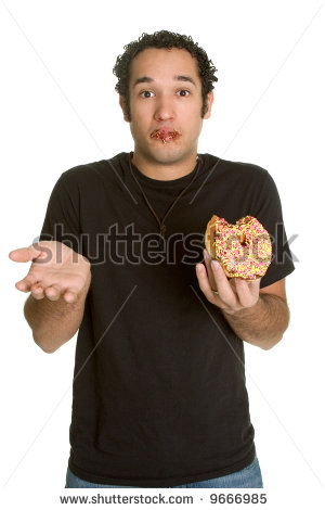 stock-photo-guilty-man-eating-donut-9666985